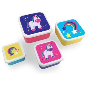 So-Mine Set of 4 Lunch Containers - Unicorns